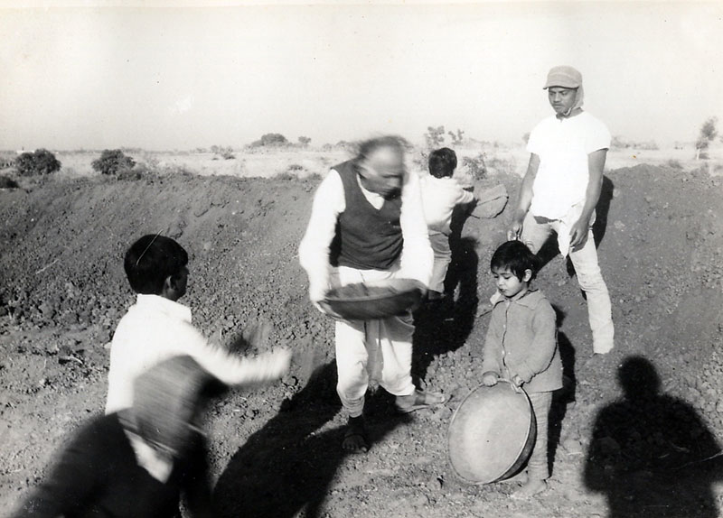 Water Conservation Work in those early days ! - Lokbharti Gallery
