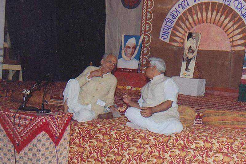 Anilbhai Bhatt with Arunbhai Dave  - Lokbharti Gallery