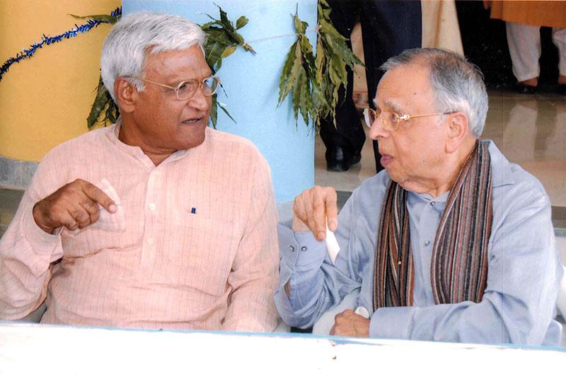 Balwantbhai Parekh and Arunbhai Dave  - Lokbharti Gallery